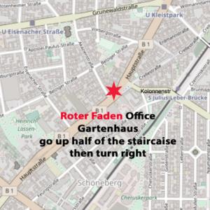 City Map, Roter Faden Office, Hauptstrasse 20, Gartenhaus, 10827 Berlin-Schöneberg